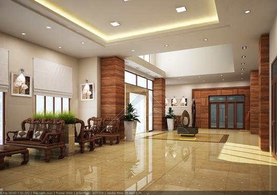 Thiết kế nội thất nhà khách tại Lạng Sơn
