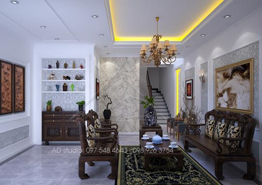 Thiết kế nội thất nhà phố tại Hồng Mai, Hà Nội