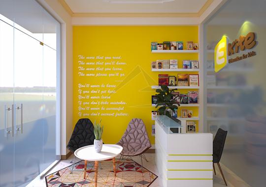 Thiết kế nội thất trung tâm tiếng anh Ekite tại Hà Nội