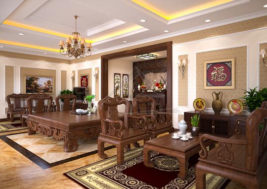Thiết kế nội thất tân cổ điển biệt thự tại Thạch Thất, Hà Nội