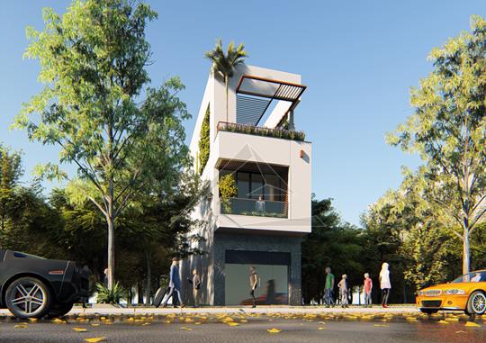 Thiết kế nhà phố 3 tầng hiện đại tại Hưng Yên
