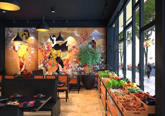 Thiết kế nội thất nhà hàng BBQ Restaurant