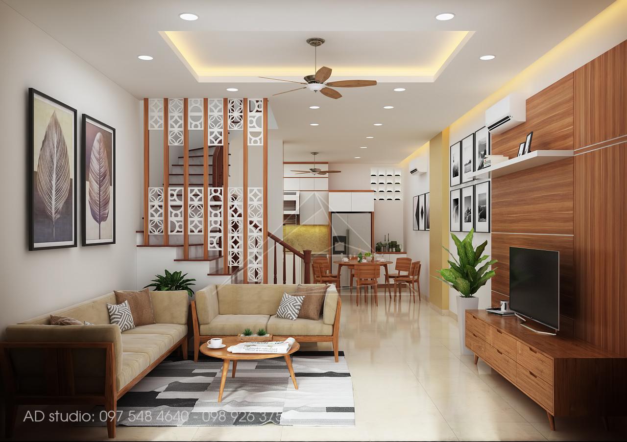 Thiết kế nội thất nhà phố ở Xuân Diệu, Hà Nội