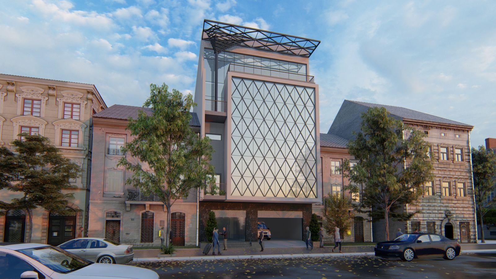 Thiết kế văn phòng 5 tầng tại Hoài Đức, Hà Nội