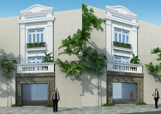Thiết kế nhà phố tân cổ điển tại Núi Trúc, Hà Nội