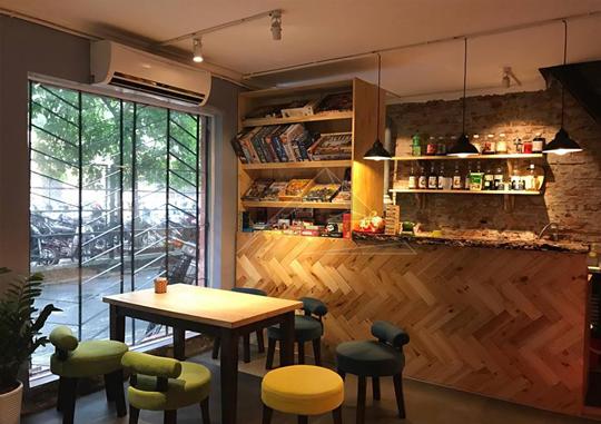 Thi công nội thất quán cafe Tavula boardgame