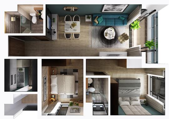 Thiết kế nội thất căn hộ chung cư Sun Grand City, Lương Yên, Hà Nội