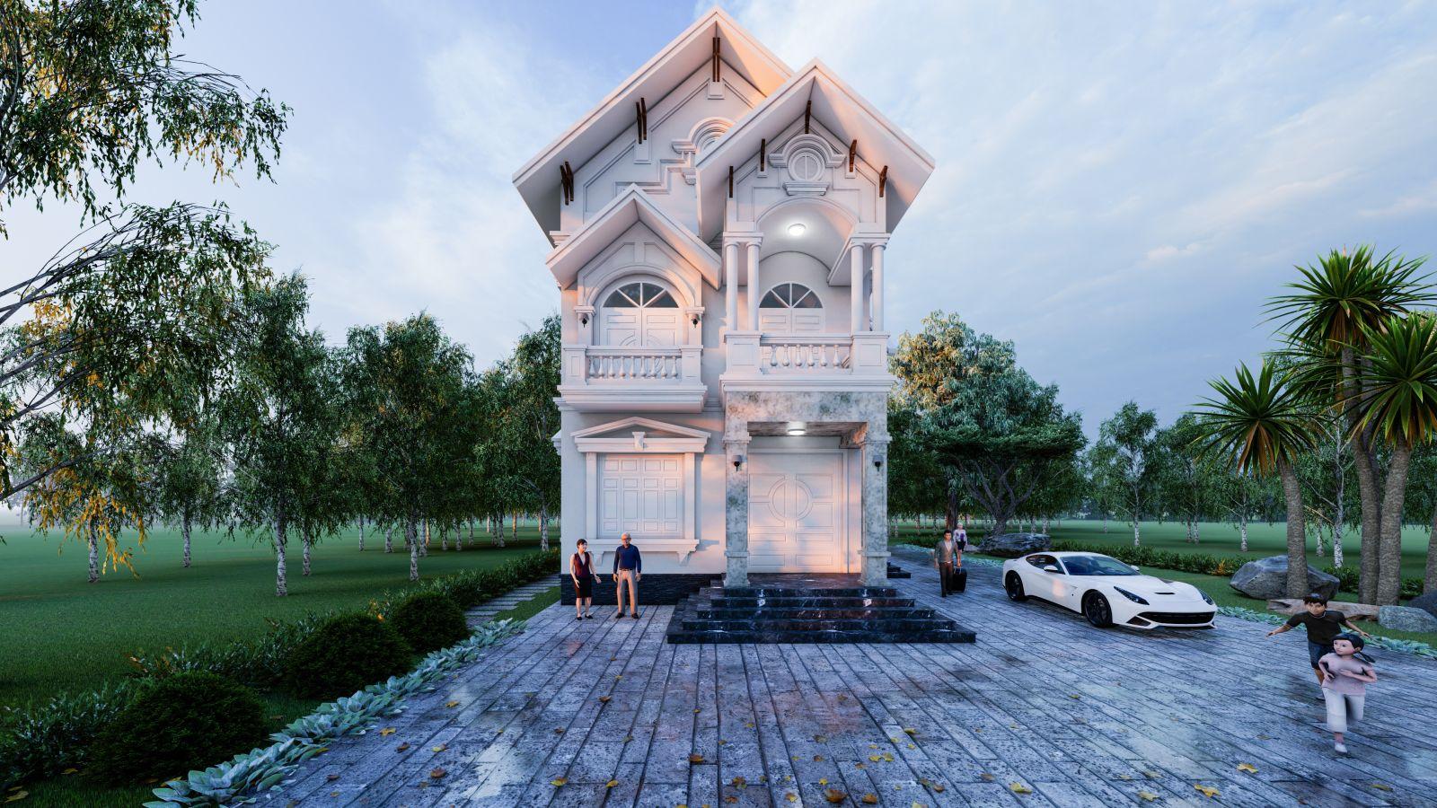 Thiết kế biệt thự tân cổ điển tại Tứ Kỳ, Hải Dương