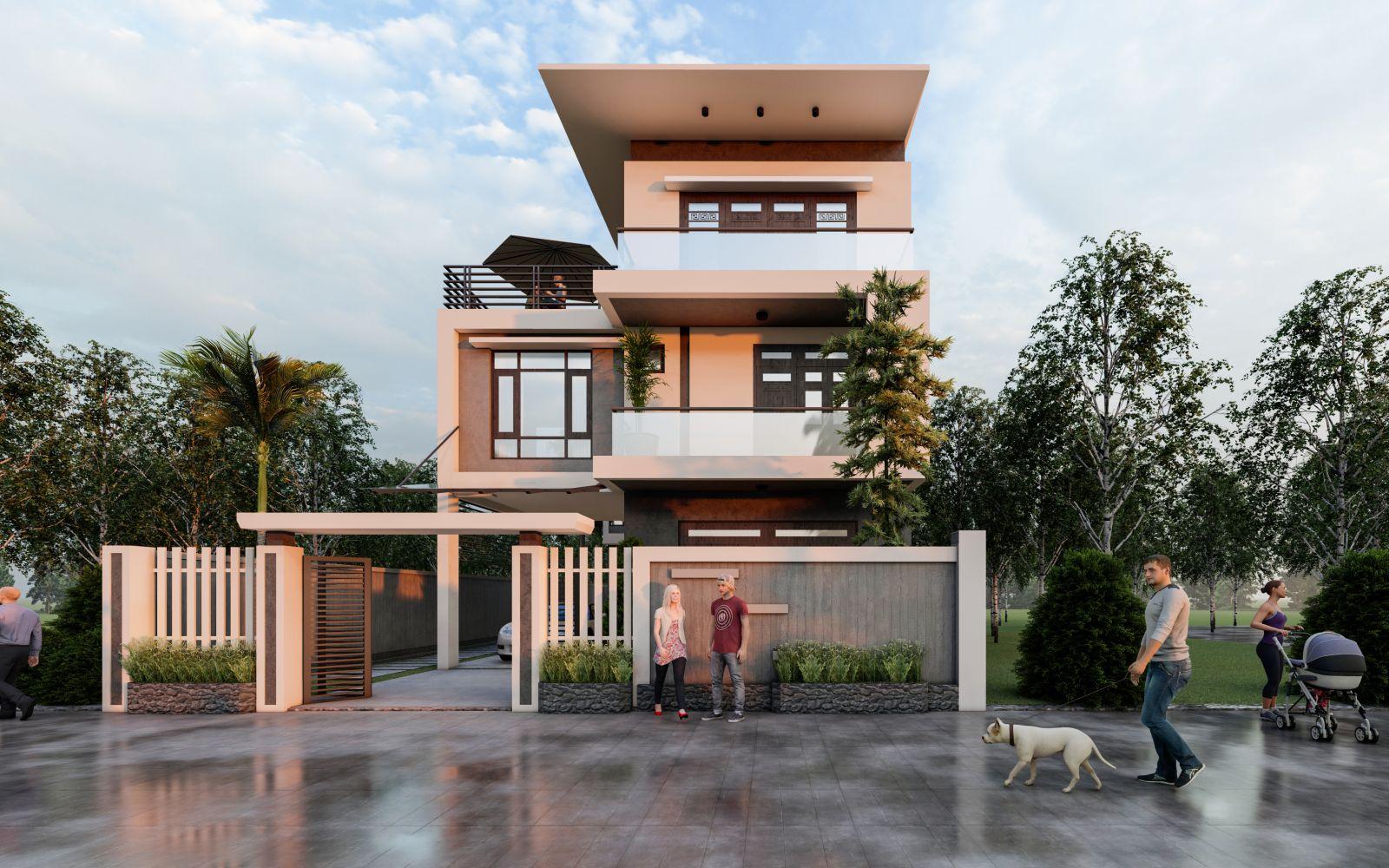 Thiết kế biệt thự hiện đại tại Quảng Bình