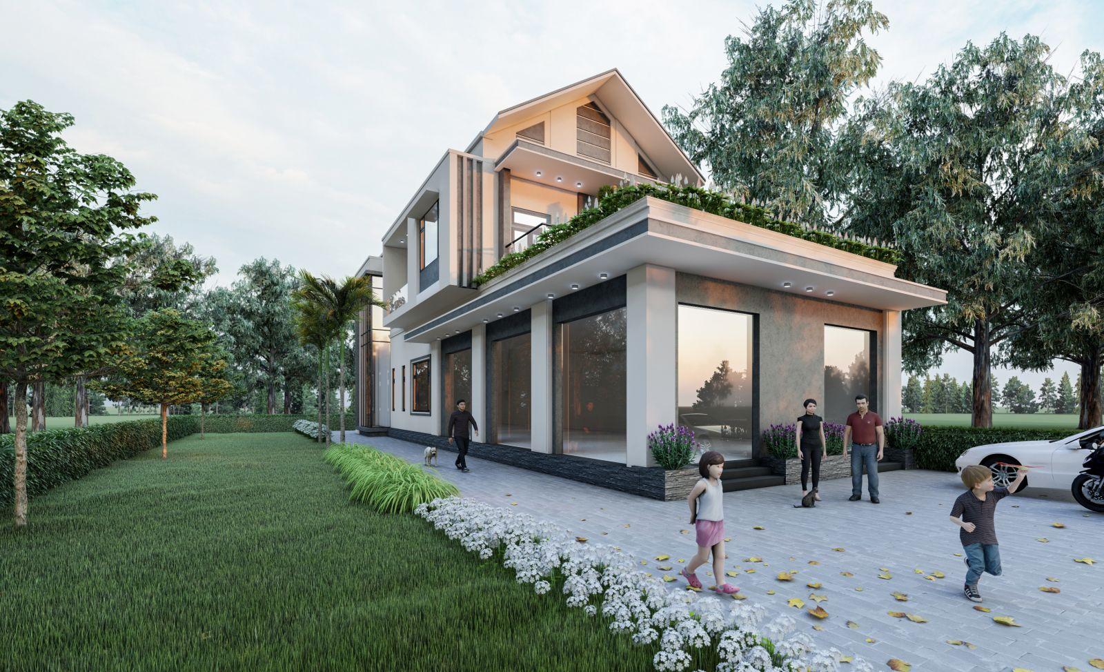 Thiết kế nhà vườn tại Tứ Kỳ, Hải Dương