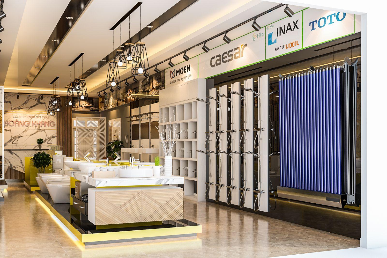 Thiết kế nội thất showroom nội thất  Hoàng Khang