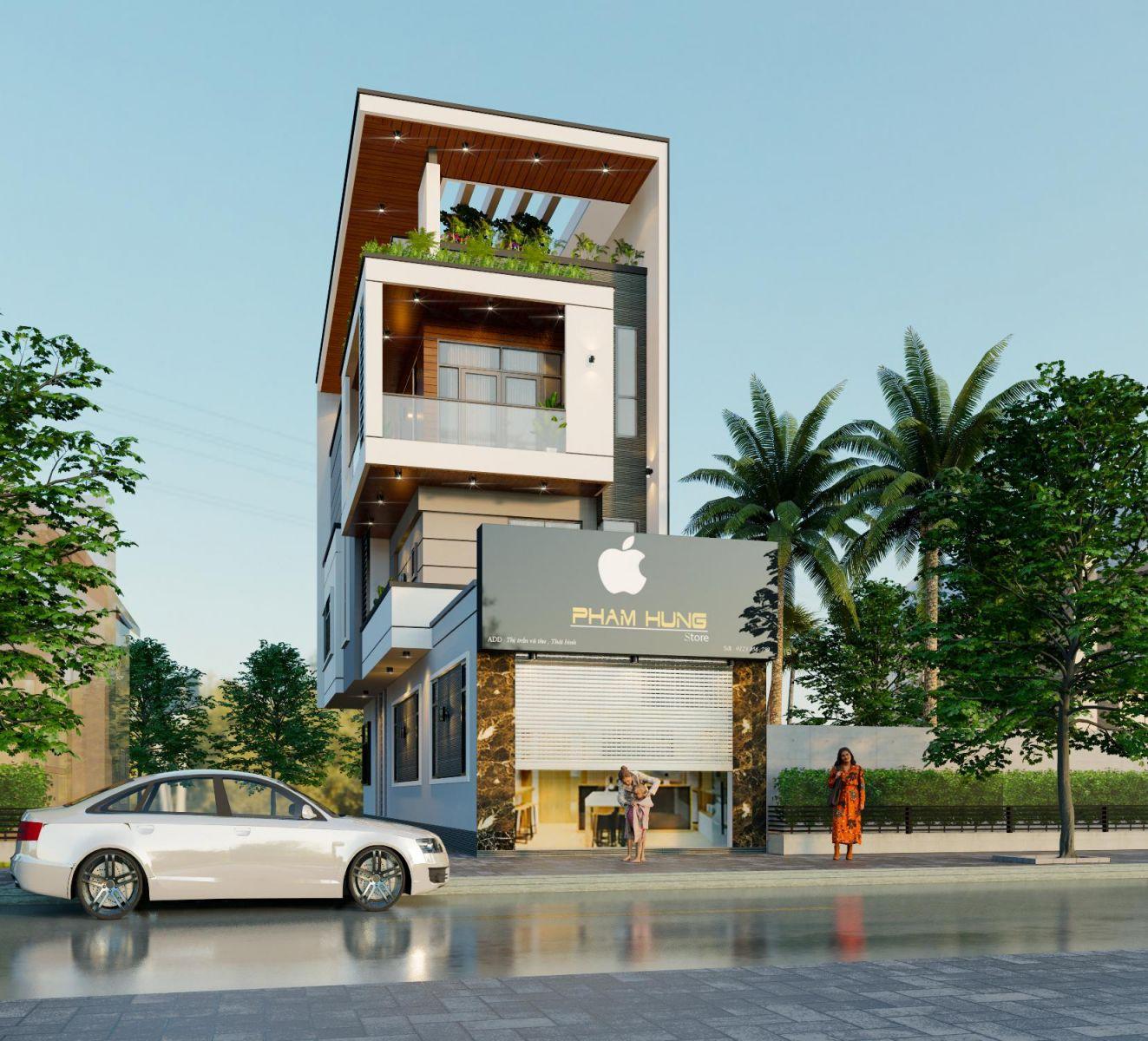 Thiết kế nhà phố hiện đại tại Vũ Thư, Thái Bình