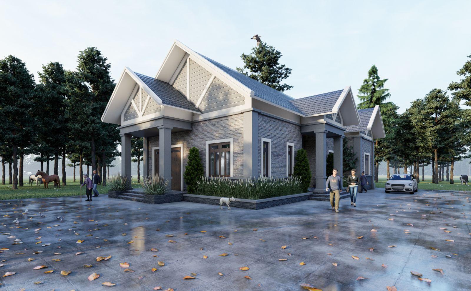 Thiết kế nhà vườn 1 tầng tại Hàm Yên, Tuyên Quang