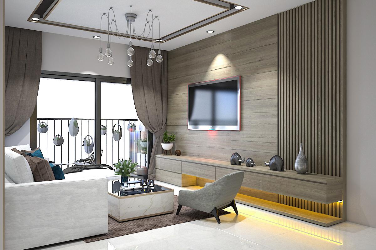 Thiết kế nội thất căn hộ chung cư 390 Nguyễn Văn Cừ, Long Biên, Hà Nội